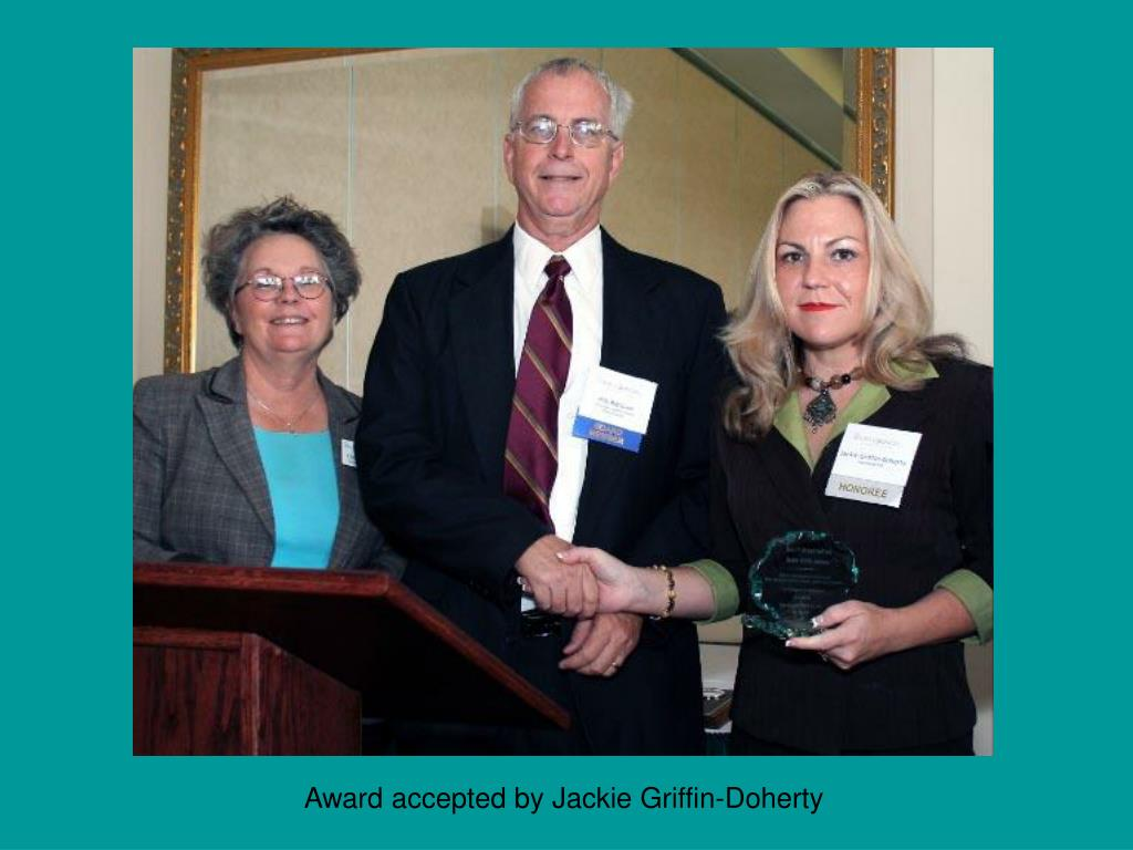 Award accepted by Jackie Griffin-Doherty
