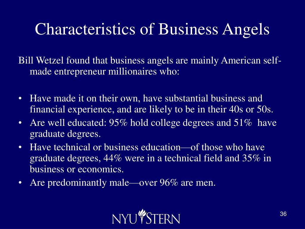 Characteristics of Business Angels
