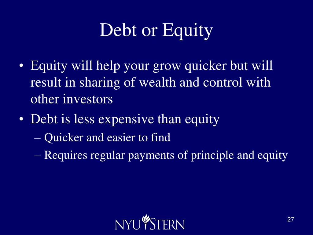 Debt or Equity