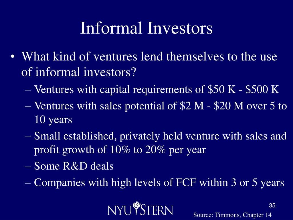 Informal Investors