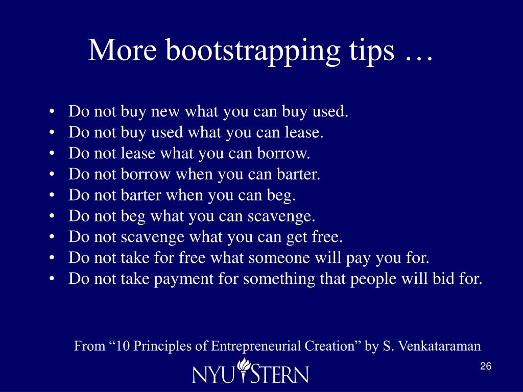 More bootstrapping tips …