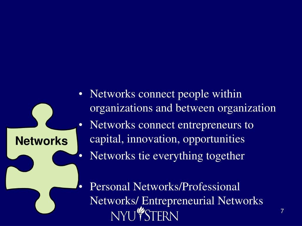 Networks connect people within organizations and between organization