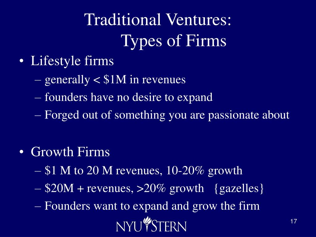 Traditional Ventures: