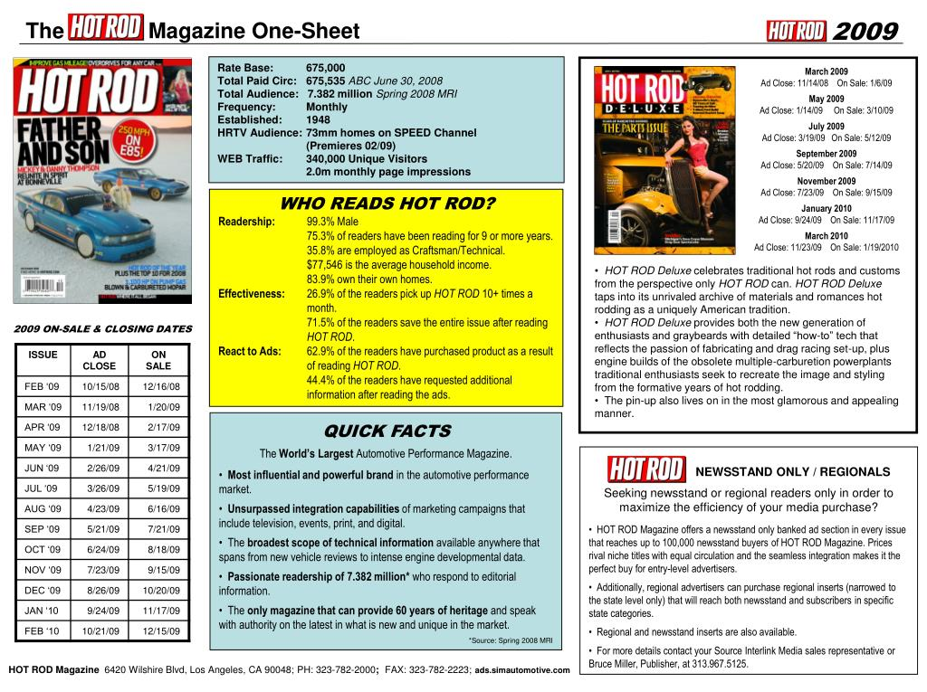 The              Magazine One-Sheet