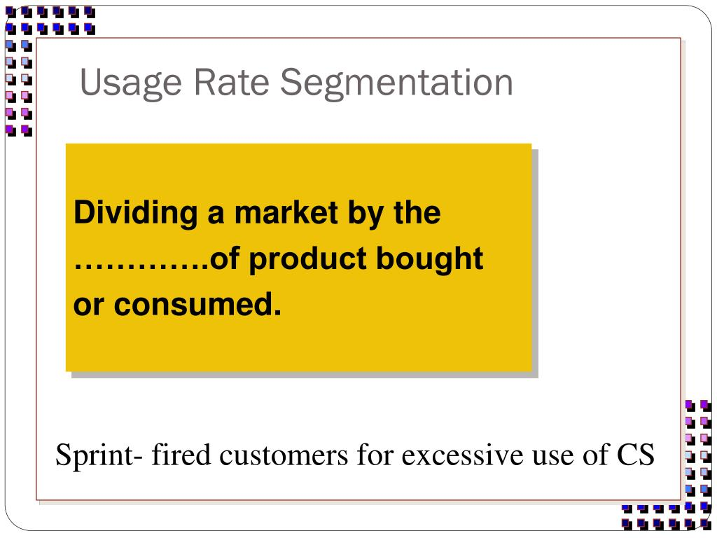 Usage Rate Segmentation