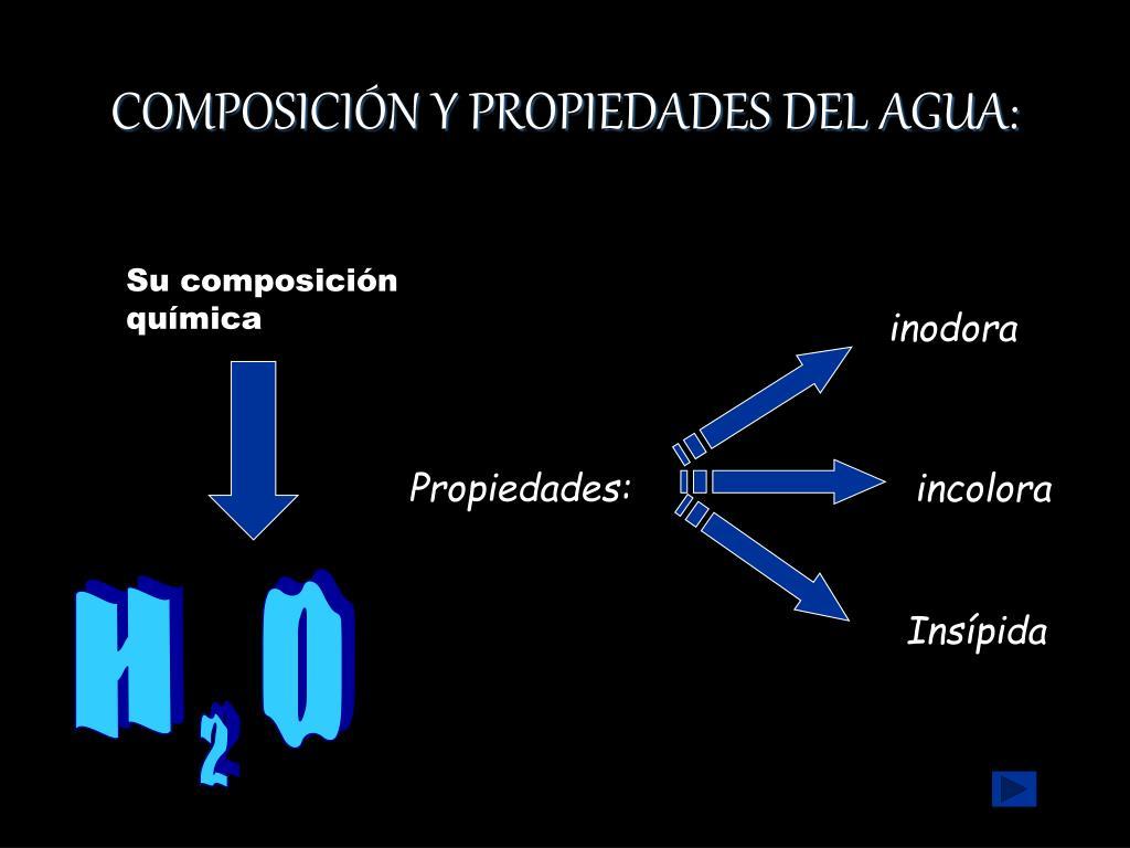 COMPOSICIÓN Y PROPIEDADES DEL AGUA:
