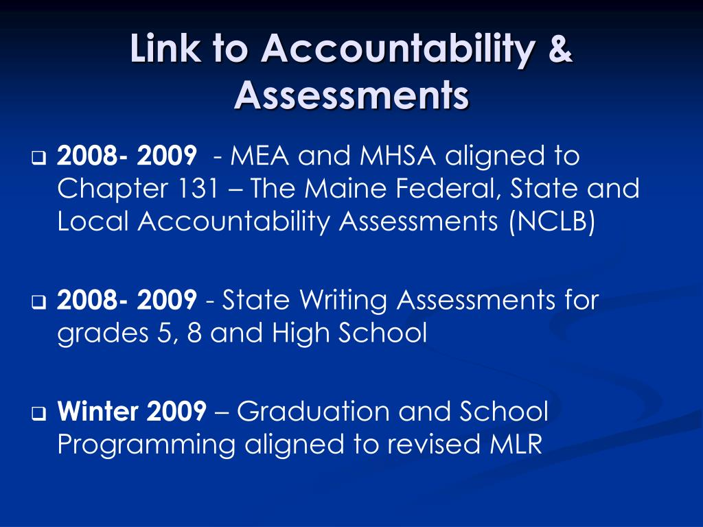 Link to Accountability & Assessments