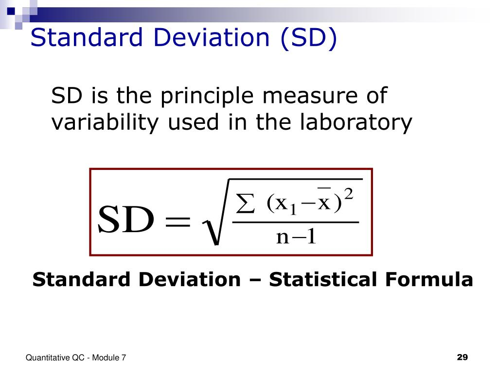 Measures of variability: the range, inter-quartile range and standard deviation