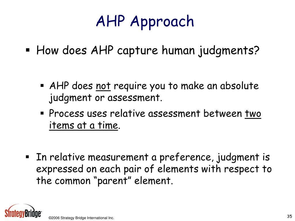 AHP Approach