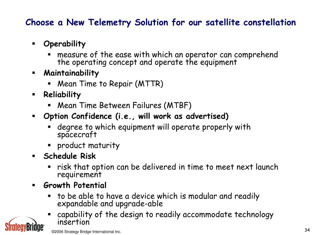 Choose a New Telemetry Solution for our satellite constellation