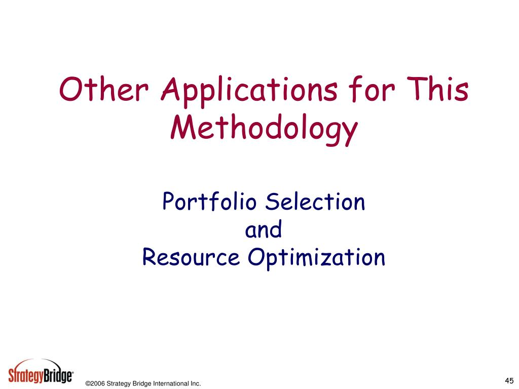 Other Applications for This Methodology