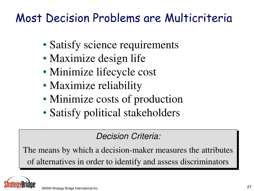 Most Decision Problems are Multicriteria