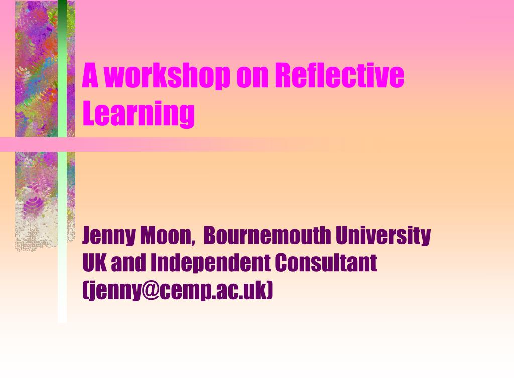 reflective diary on presentation Recognise how to deepen reflective reflective writing provides an opportunity for you to read the following three accounts of a presentation at a team.