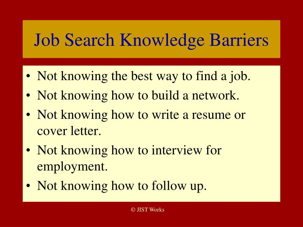 Ppt overcoming barriers to employment success powerpoint