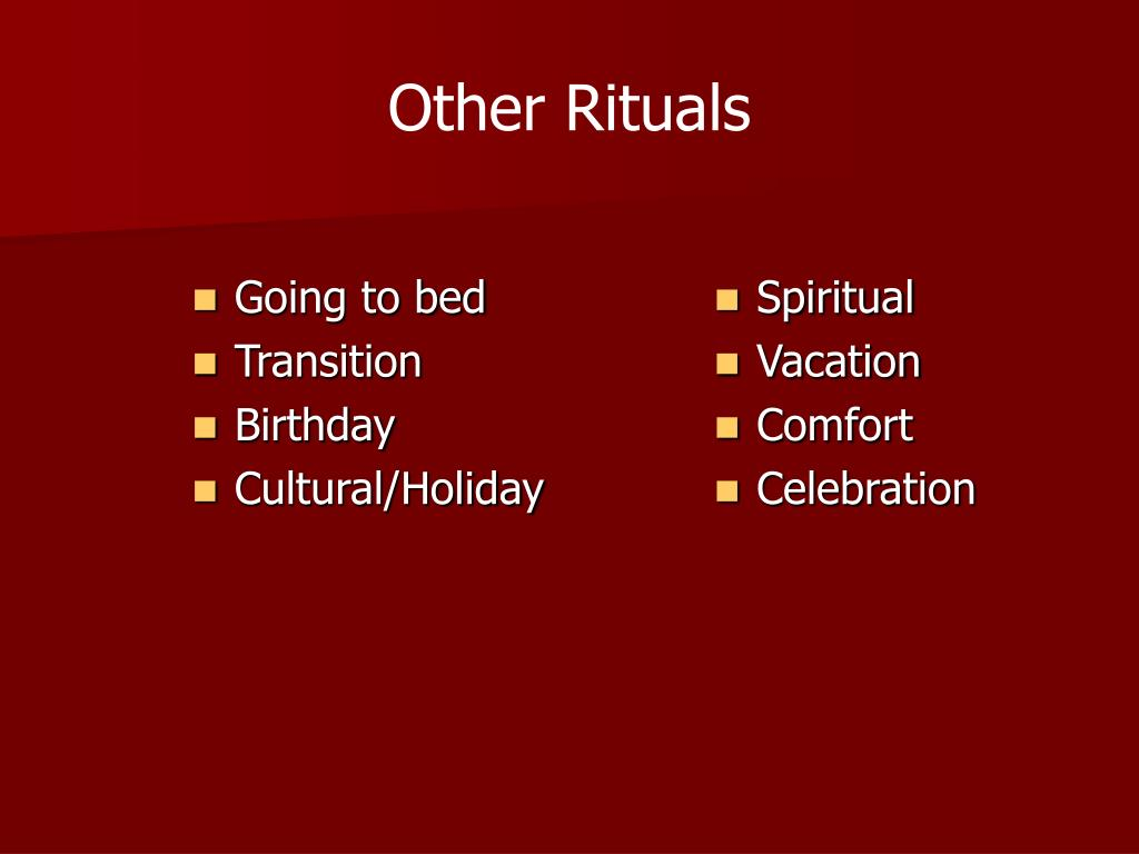 Other Rituals