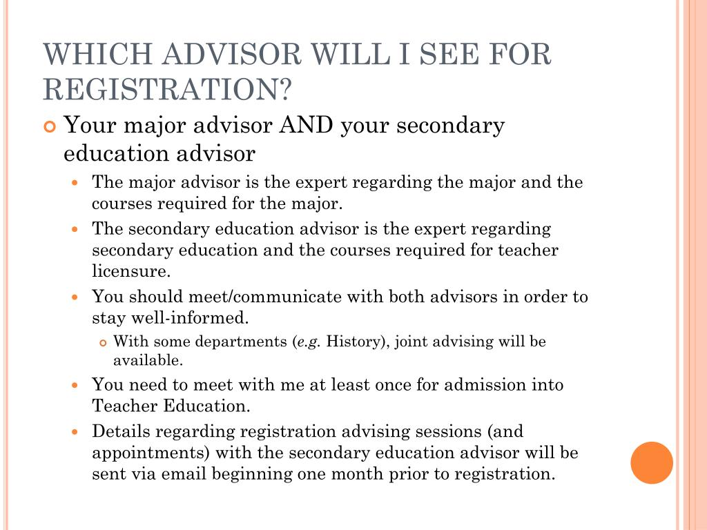 WHICH ADVISOR WILL I SEE FOR REGISTRATION?
