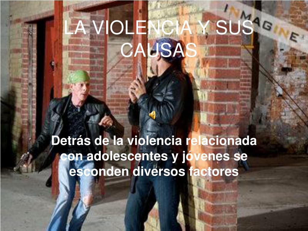 LA VIOLENCIA Y SUS CAUSAS