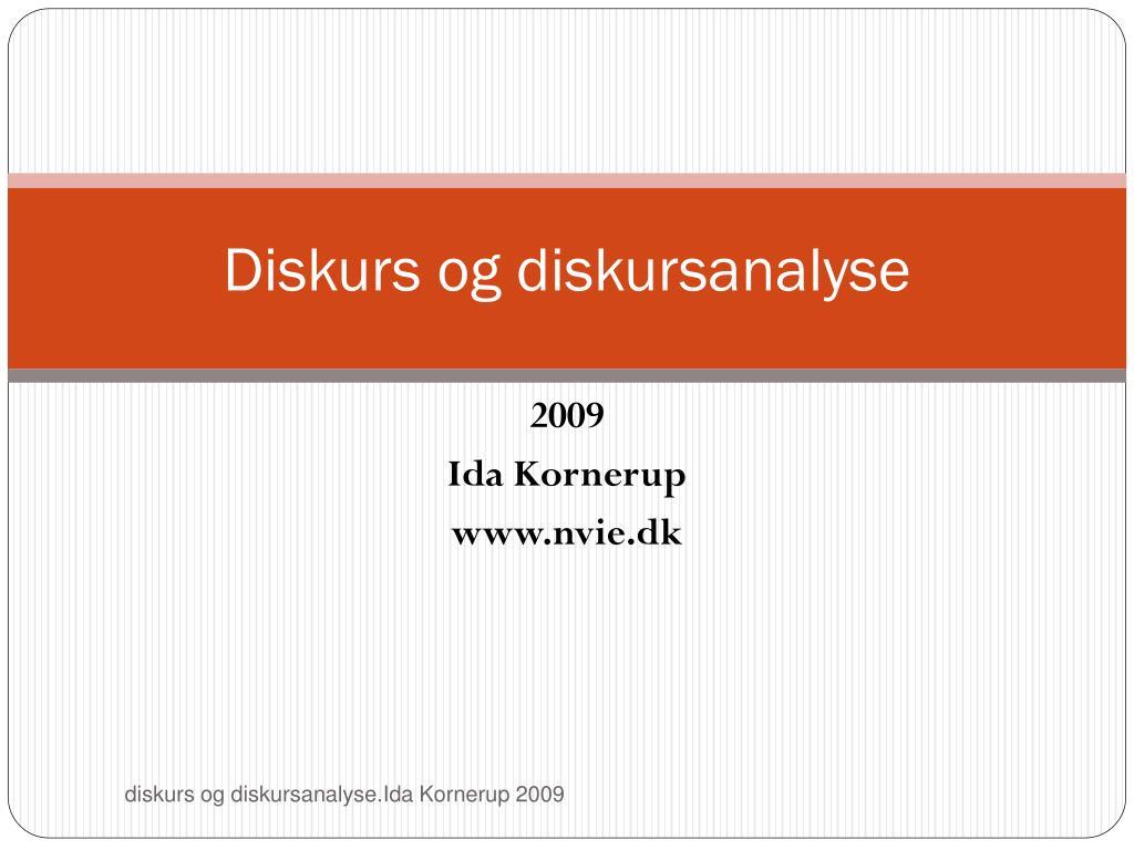 Diskurs og diskursanalyse