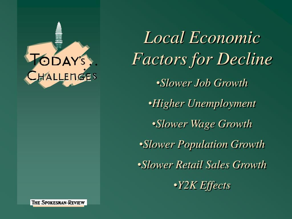 Local Economic Factors for Decline