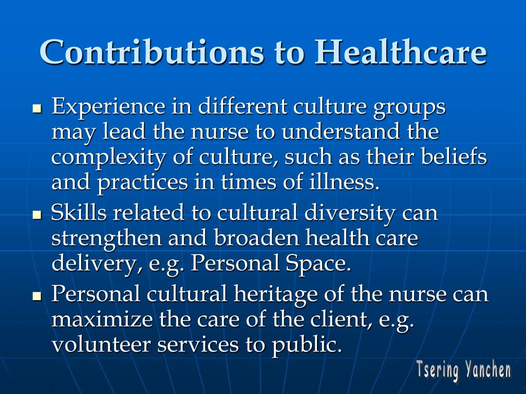 Contributions to Healthcare