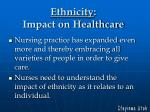 ethnicity impact on healthcare