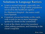solutions to language barriers