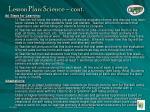 lesson plan science cont