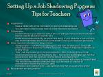 setting up a job shadowing program tips for teachers26