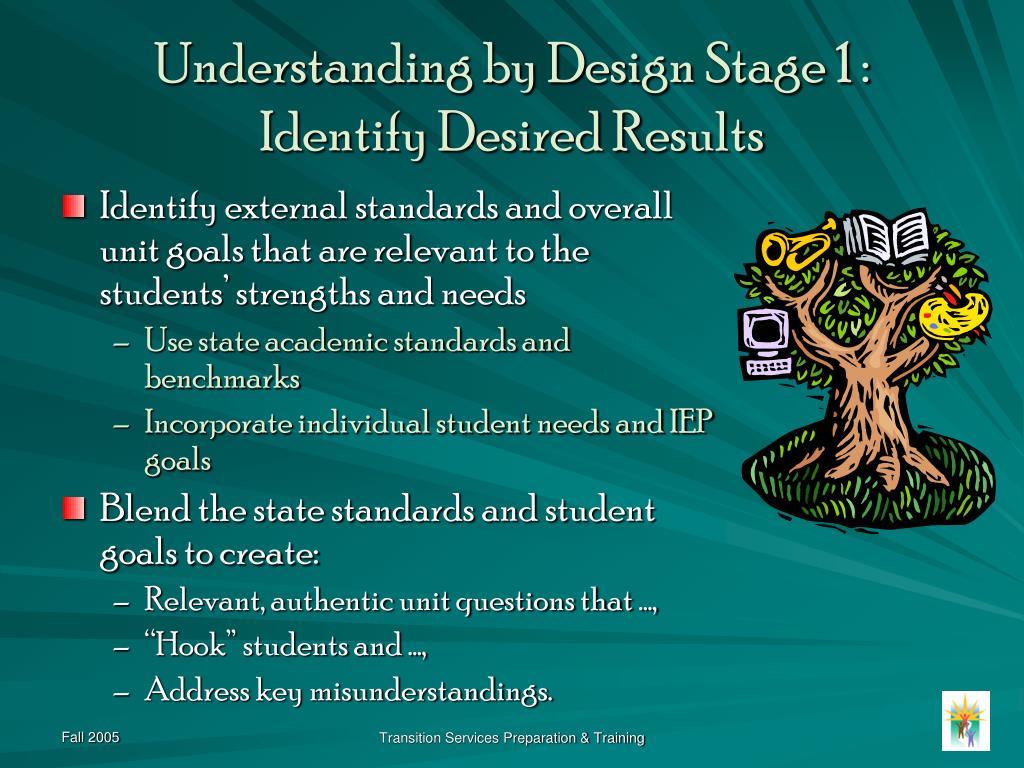 Understanding by Design Stage 1 :