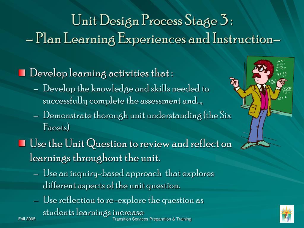Unit Design Process Stage 3 :