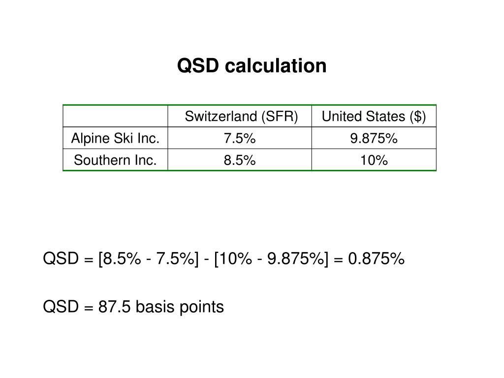 QSD calculation