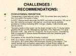 challenges recommendations