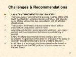 challenges recommendations27