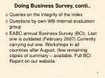 doing business survey conti
