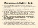 macroeconomic stability conti