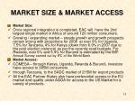 market size market access
