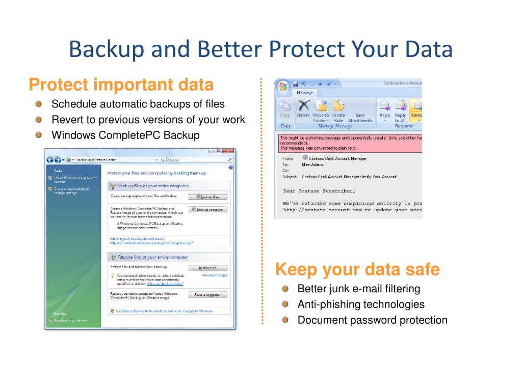Backup and Better Protect Your Data