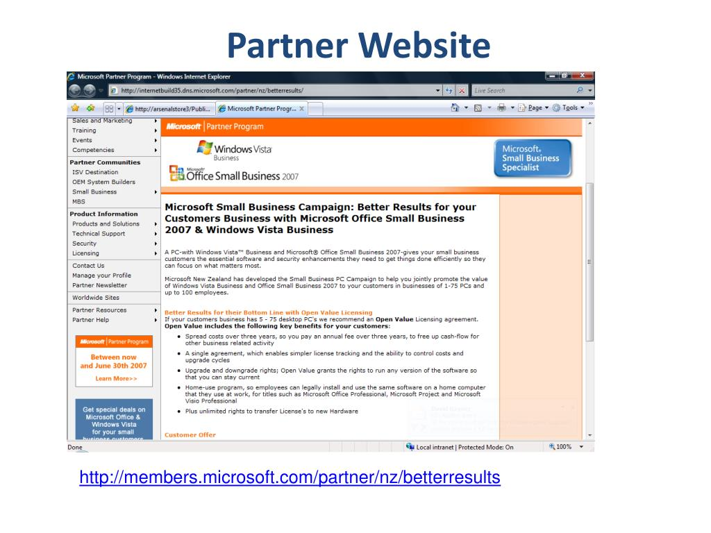 Partner Website