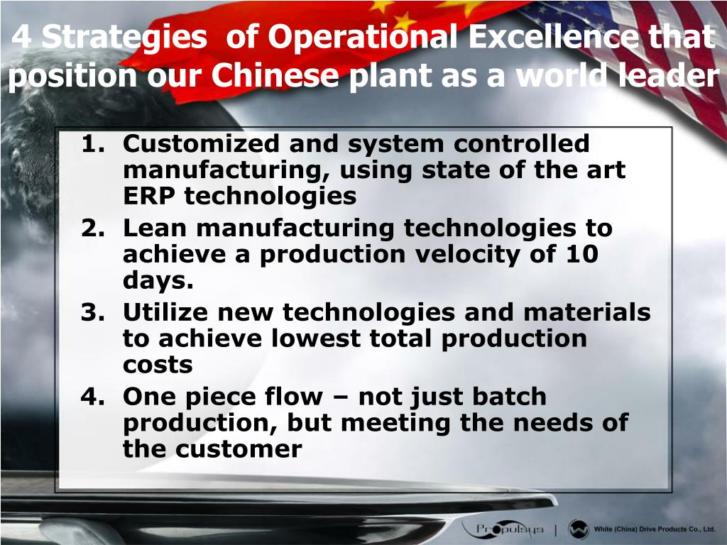 Customized and system controlled manufacturing, using state of the art ERP technologies