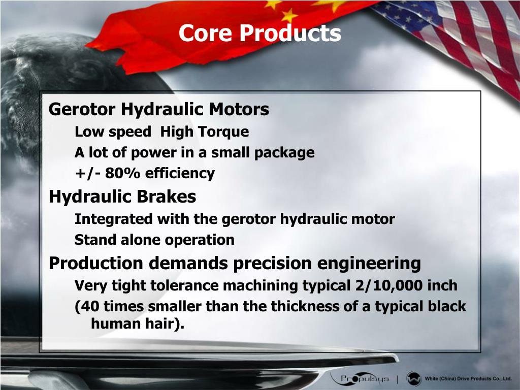 Gerotor Hydraulic Motors