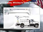 cranes winches utility vehicles