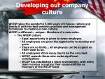 developing our company culture