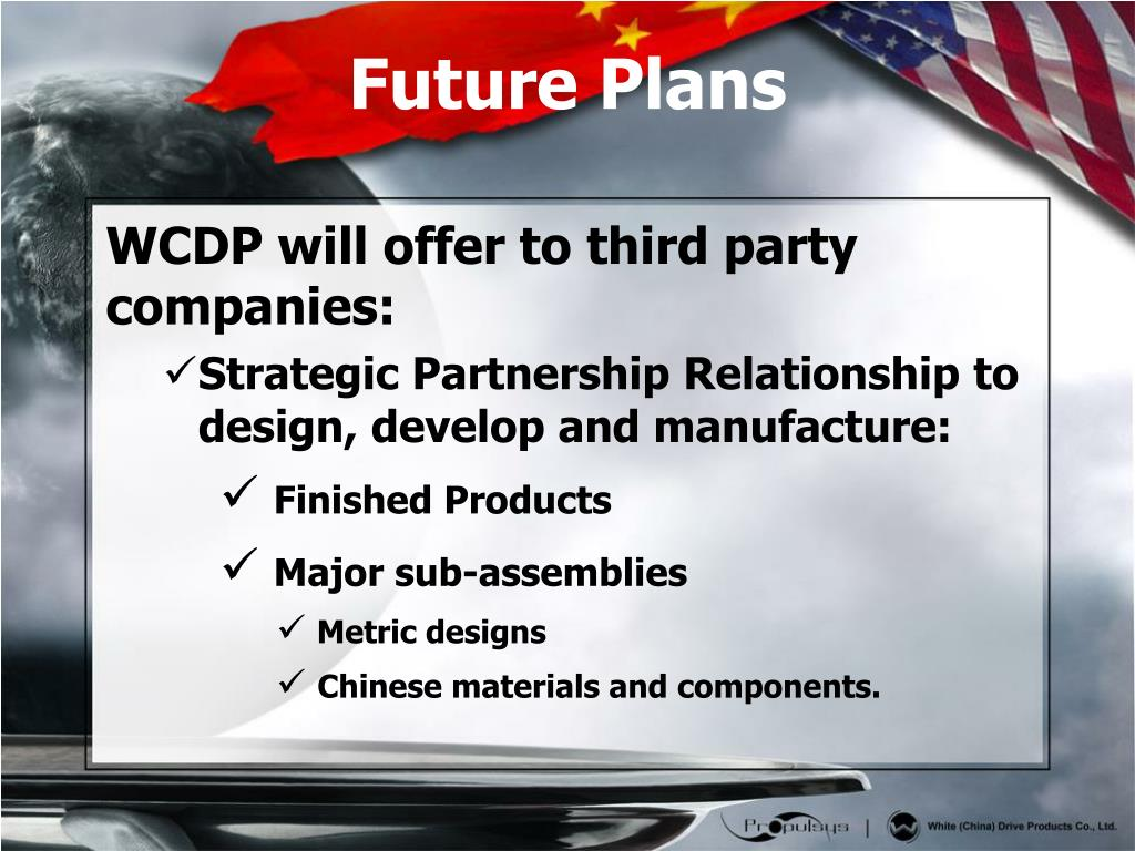 WCDP will offer to third party companies: