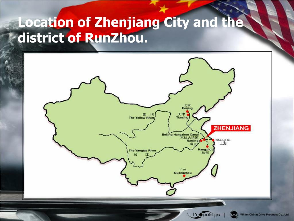 Location of Zhenjiang City and the district of RunZhou.