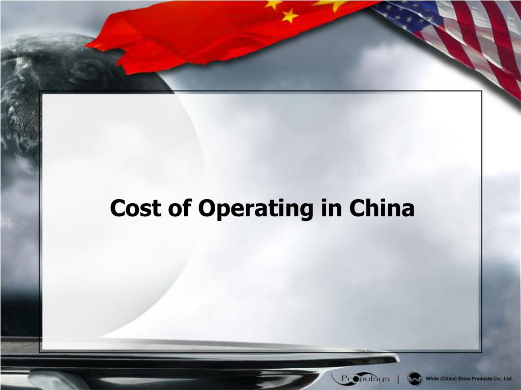 Cost of Operating in China