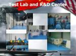 test lab and r d center