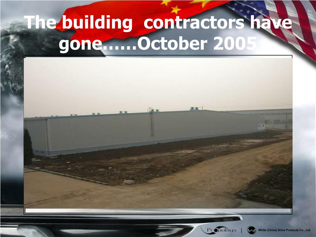 The building  contractors have gone……October 2005