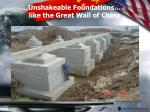 unshakeable foundations like the great wall of china
