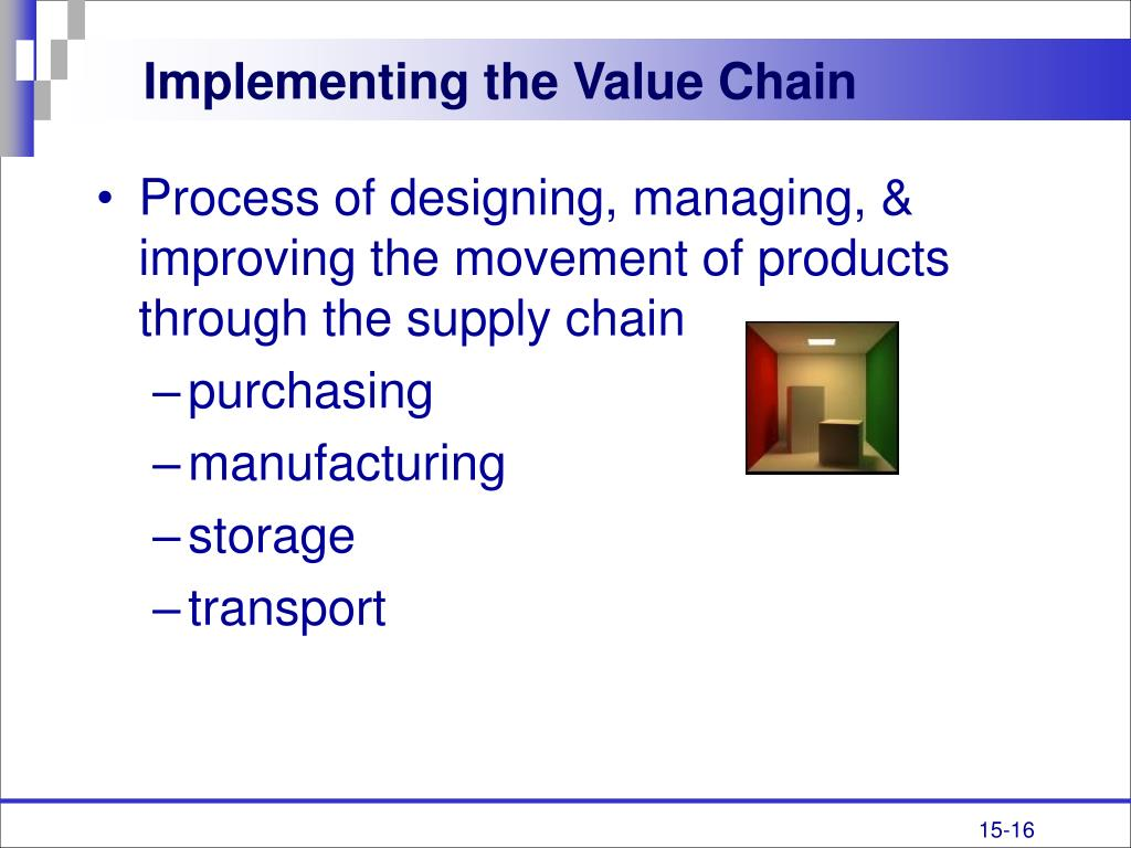 Implementing the Value Chain