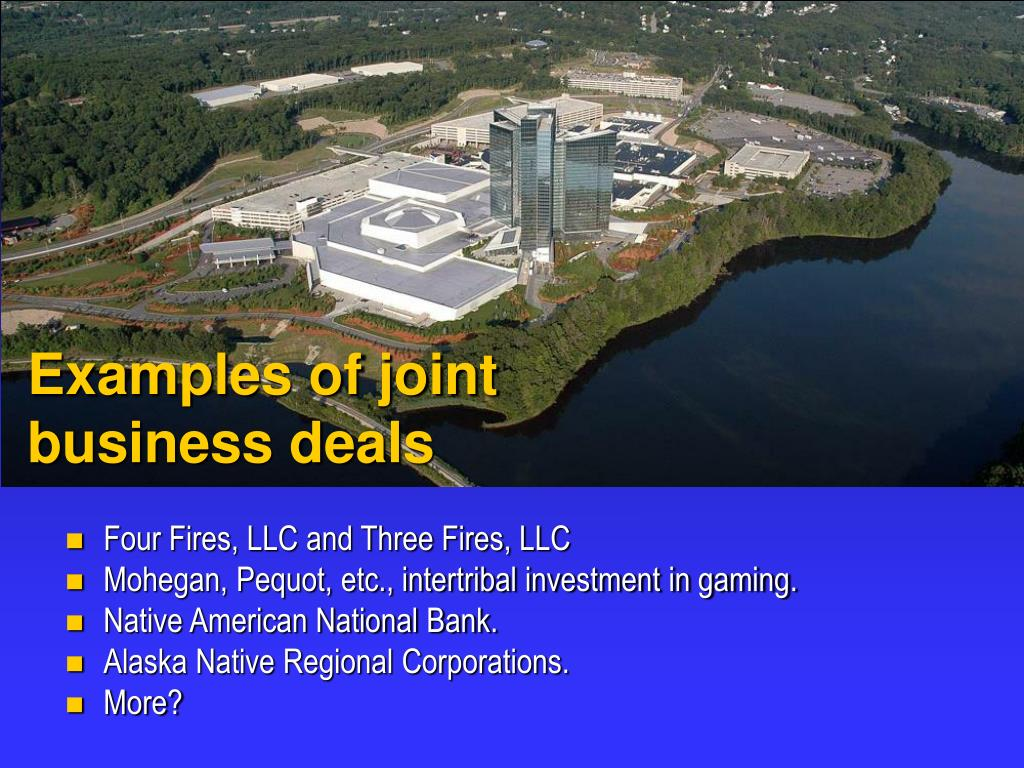 Examples of joint business deals